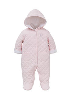 Little Me Button Down Hooded Onesie