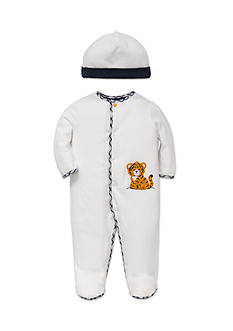 Little Me 2-Piece Tiger Footie and Hat Set