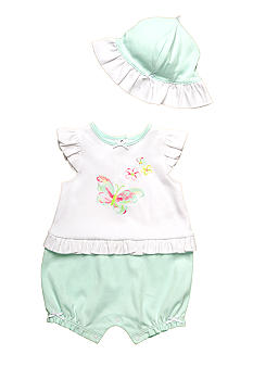Little Me Butterfly Romper With Hat