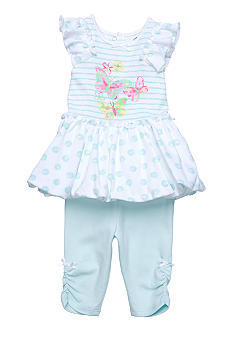 Little Me Dancing Butterfly Dress & Legging Set