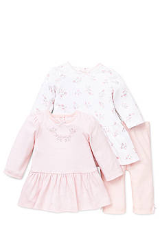 Little Me Dainty Rosebuds 2-Pack Dress & Legging Set