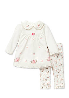 Little Me Heirloom Rose Tunic & Legging Set