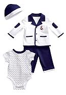 Little Me Drop Anchor 4-Piece Jacket Set