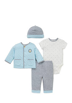 Little Me 4-Piece Puppy Bodysuit, Tunic, Hat, and Pants Set