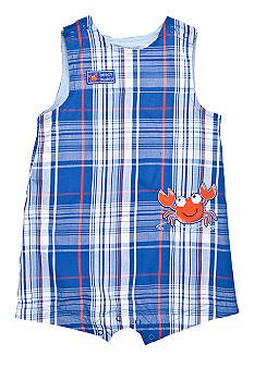 Little Me Plaid Crab Sunsuit