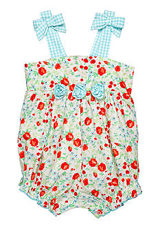 Little Me Floral Print Sunsuit