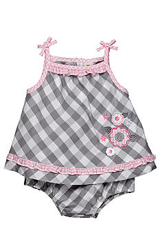 Little Me Checkered Floral 2 Piece Set