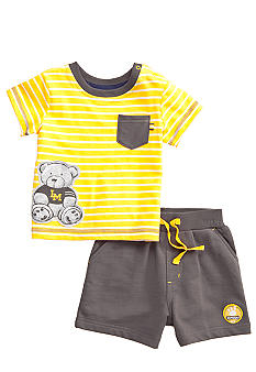 Little Me Teddy Bear Short Set