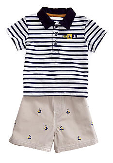 Little Me Sailboat Short Set