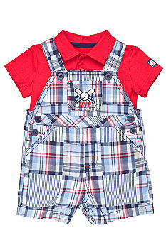 Little Me Baseball Shortall Set