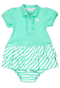 Little Me Mint Heart Dress Set
