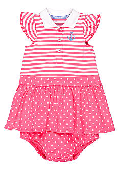 Little Me Pink Anchor Dress Set