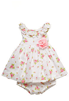 Little Me Rose Print Dress Set