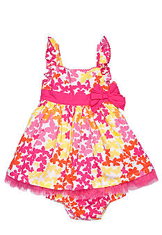Little Me Butterfly Print Dress Set