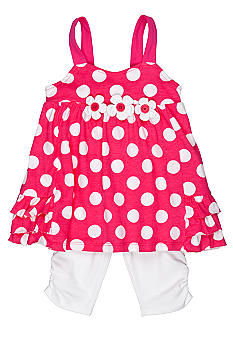 Little Me Polka Dot Capri Set