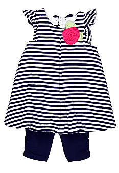 Little Me Nautical Capri Set