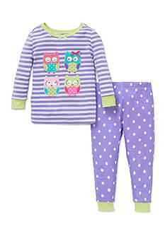 Little Me Girls 4-6 Owl 2-Piece Pajama