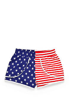 Nursery Rhyme Play™ American Flag Pompom Shorts