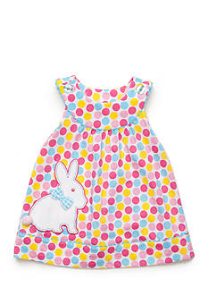 Nursery Rhyme Play™ 2-Piece Bunny Dot Dress and Bloomer Set