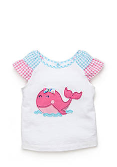 Nursery Rhyme Play™ Ruffle Sleeve Whale Tee