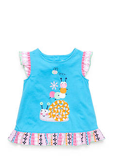 Nursery Rhyme Play™ Snail-and-Friends Ruffle Tunic Top