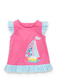 Nursery Rhyme Play™ Sailboat Ruffle Hem Top