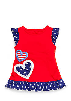 Nursery Rhyme Play™ Hearts-and-Stars Babydoll Top