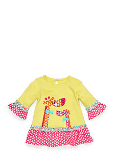 Nursery Rhyme 3/4 Sleeve Ruffle Top