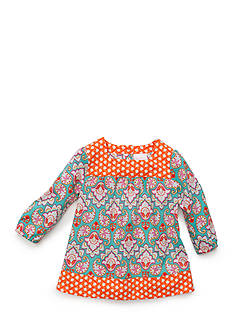 Nursery Rhyme Mixed Print Woven Top