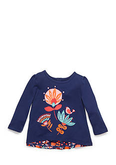 Nursery Rhyme Flower Ruffle Back Top