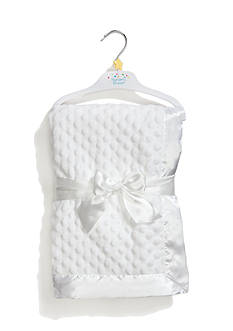 Nursery Rhyme Embossed Blanket with Satin Trim