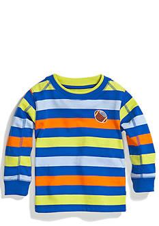 Nursery Rhyme Play™ Long Sleeve Striped Sueded Crew Top