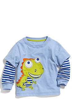 Nursery Rhyme Play™ Long Sleeve Novelty Stripe 2Fer Top