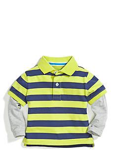 Nursery Rhyme Play™ Long Sleeve Stripe Polo 2Fer