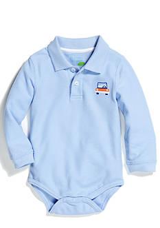 Nursery Rhyme Play™ Long Sleeve Solid Polo Bodysuit