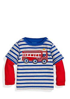 Nursery Rhyme Play™ Striped Truck 2fer Crew Tee Shirt