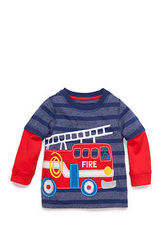 Nursery Rhyme Striped Firetruck Shirt