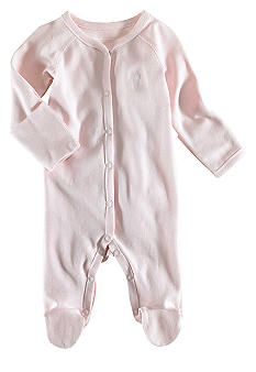 Ralph Lauren Childrenswear Pink Solid Coverall