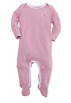 Ralph Lauren Childrenswear Striped Footed Coverall<br>