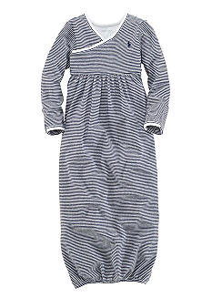 Ralph Lauren Childrenswear Navy Stripe Gown