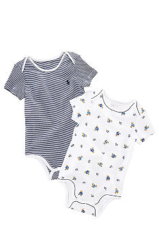 Ralph Lauren Childrenswear Bear Printed Bodysuit Pack of 2