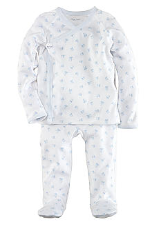 Ralph Lauren Childrenswear 2-Piece Toy Block Printed Kimono Set