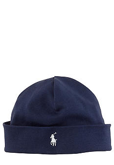 Ralph Lauren Childrenswear Navy Reversible Beanie<br>