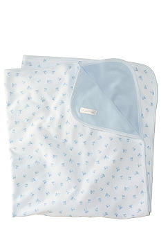 Ralph Lauren Childrenswear Reversible Printed Receiving Blanket<br>