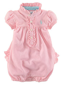 Ralph Lauren Childrenswear Ruffled Bubble Romper