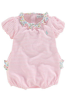 Ralph Lauren Childrenswear Striped Ruffled Bubble Shortall
