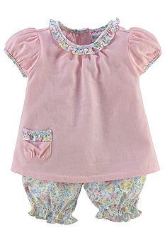 Ralph Lauren Childrenswear 2-Piece Floral Bloomer Set