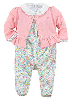 Ralph Lauren Childrenswear 3-Piece Floral Overall Set