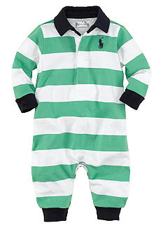Ralph Lauren Childrenswear Striped Rugby Coverall