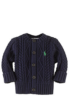 Ralph Lauren Childrenswear Cable Knit Cardigan Sweater